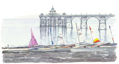 Waiting for the tide - Clevedon Pier
